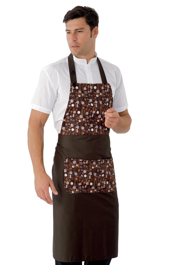 sort pentru cofetarie cu imprimeu chocolate