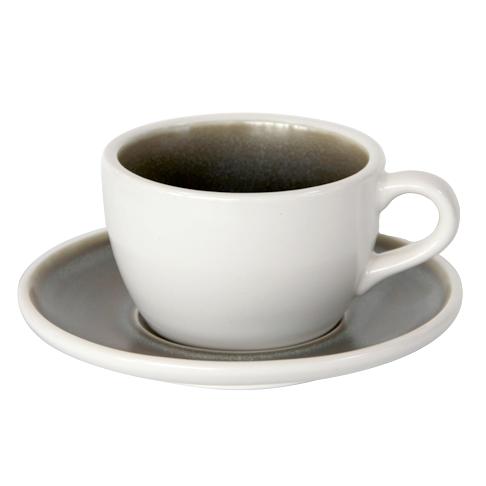 set ceasca si farfurie pentru capucino si ceai